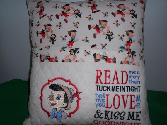 Pinocchio  Reading Pocket  Pillow