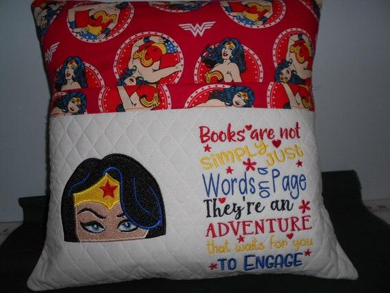 Wonder Woman  Reading  Pocket Pillow