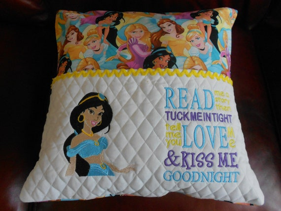 Princess Embroidered Reading Pillow