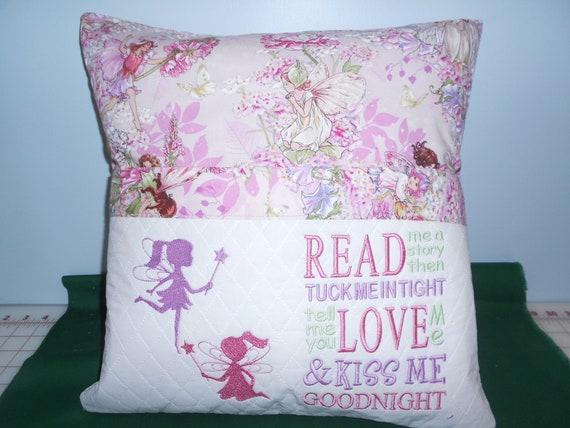 Fairies  Reading Pocket Pillow