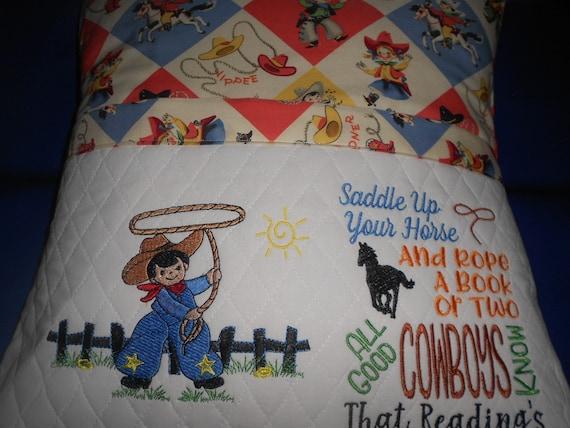 Cowboy Reading Pillow