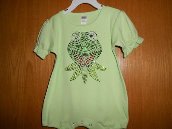 Kermit  in  Rhinestones Onesie