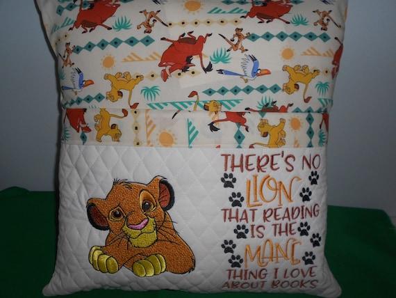 Lion Pocket Reading Pillow