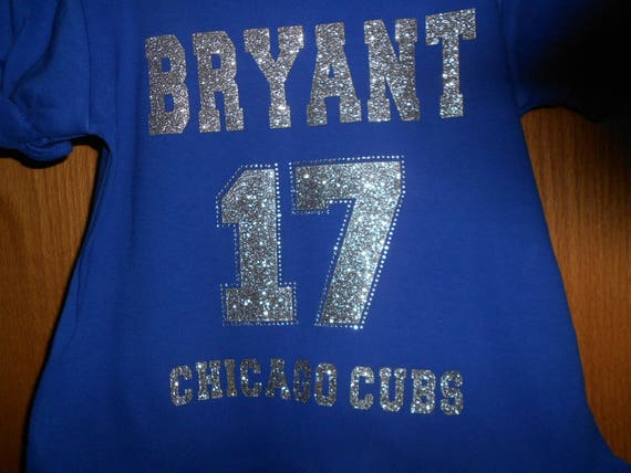 Bryant 17  Chicago Cubs  Glitter and Rhinestone Transfer