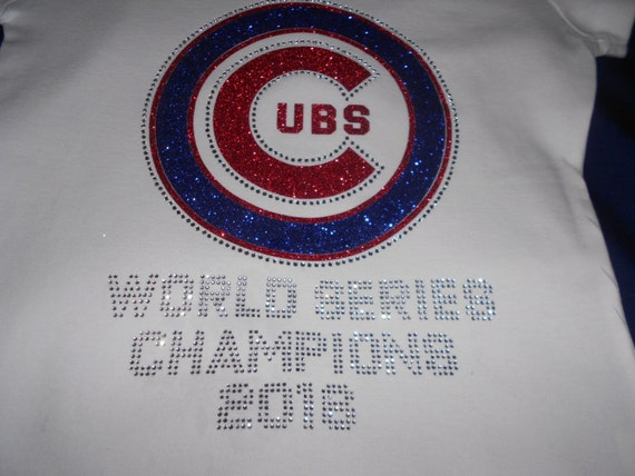 Chicago Cubs Rhinestone And Glitter  Transfer