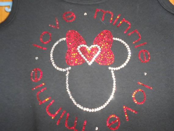 Girl's Rhinestone Love Minnie Dress