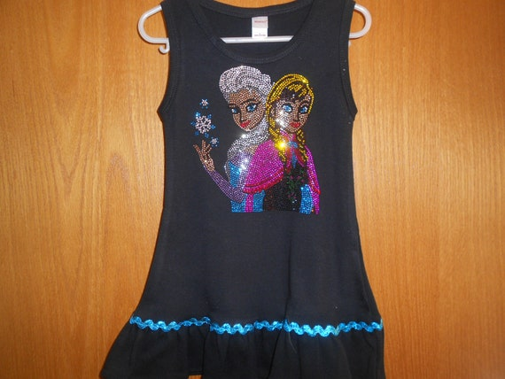 SALE Elsa And Anna Size  2 Rhinestone   Dress