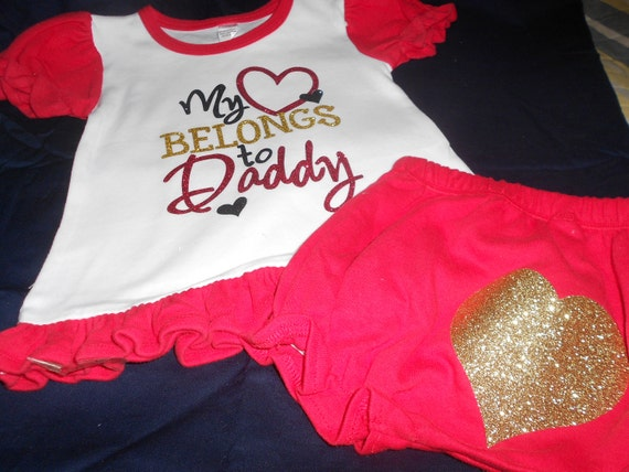 My heart belongs to Daddy 2 pc outfit