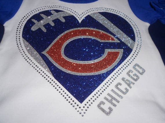 Chicago Bears Glitter and Rhinestone Transfer