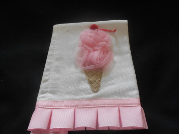 Ice Cream Cone Or Birthday Candle Burp Cloth
