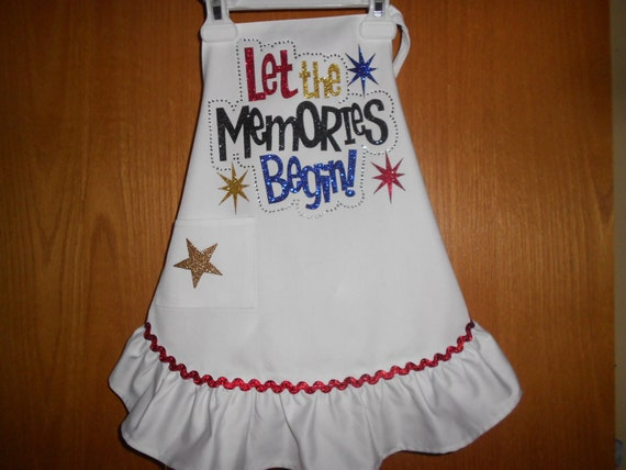 Let the Memories Begin Ruffle Child's  Apron