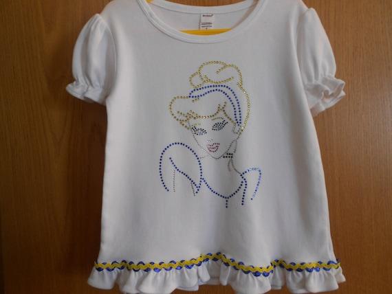 SALE Cinderella In Rhinestones TShirt Size 4 only