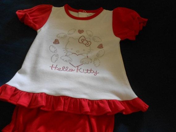 Kitty  Rhinestone 2 piece outfit