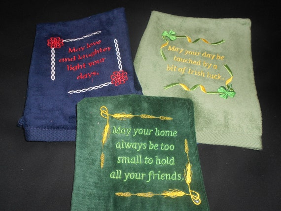 Set of 3 Irish Hand Towels