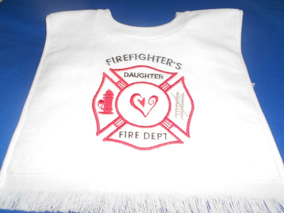 Firefighter's  Daughter  over the head bib