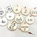 A La Carte Disc - Add A Disc - Hand Stamped or Blank Disc. Rose Gold, Gold-Filled, Sterling Silver