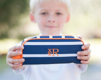 Line Up Pencil Case Monogrammed Personalized Pouch