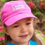 Hot Pink Kids Ball Cap Monogrammed Personalized Great for Summer Girl Hat