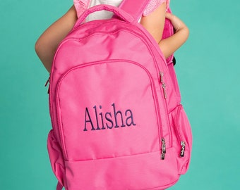 8a1db7c0a9ab Personalized Hot Pink Backpack