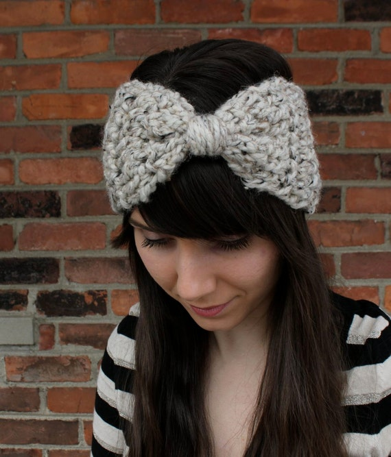 Crochet Pattern Bow Ear Warmer Headband Crochet Ear Warmer Etsy
