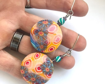 Sunny on the Water earrings by Marie Segal 2020 reversible earrings new design and style