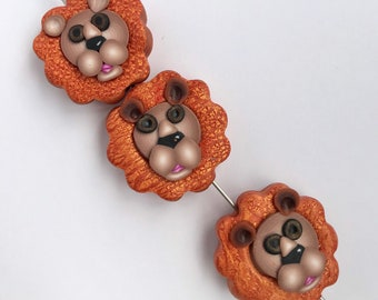 Layered Lion beads by Marie Segal 2019