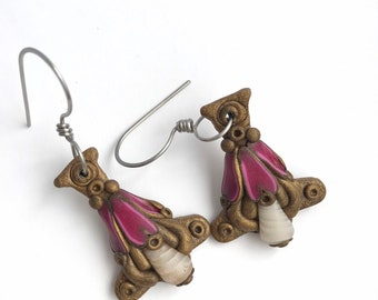 The Red Queen earrings new style and design by Marie Segal 2019