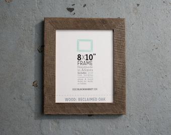 Reclaimed Weathered Oak Photo Frame (8x10)