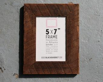 Reclaimed Antique Pine Photo Frame (5x7)