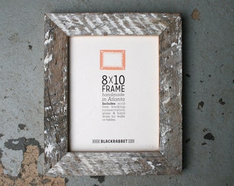 Reclaimed Whitewashed Pine Picture Frame (8 x 10 inches)
