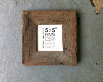 Reclaimed Oak Picture Frame (5x5)