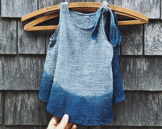 Little Girl's Dress, Indigo, 12-18 months