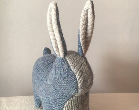 Large Toy Rabbit, Blue
