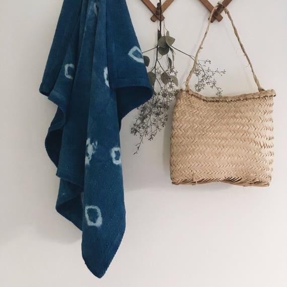 Shibori Indigo Baby Blankets