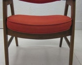 Reserved for smalley76 Both Vintage Teak and Tomato Red Danish Chairs
