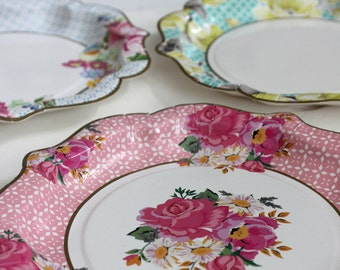 Tea party plates | Etsy