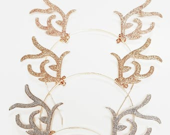 antlers headband etsy
