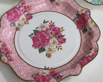Floral paper plates | Etsy