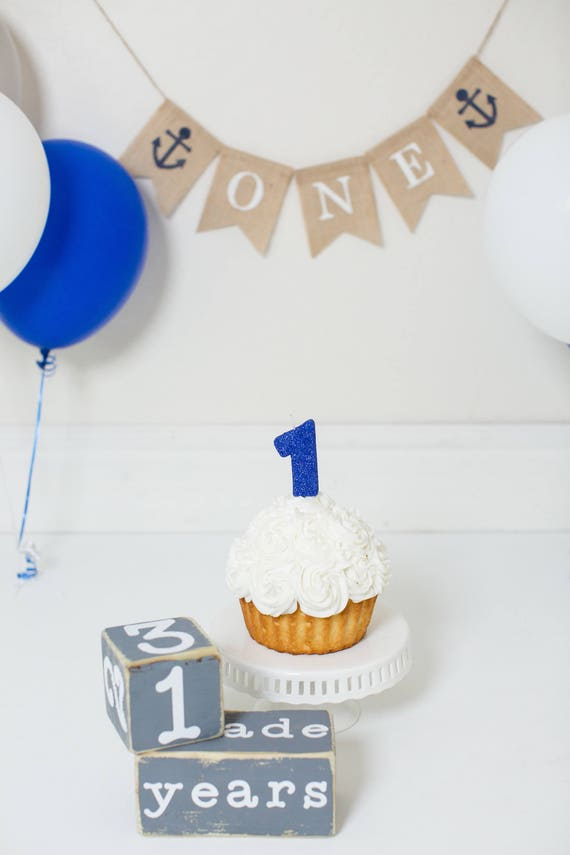 1 GLITTER BLUE CANDLE Number Birthday Cake Candles Navy Royal
