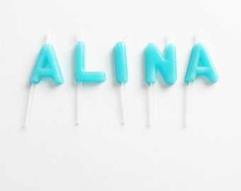 Birthday name candle Etsy
