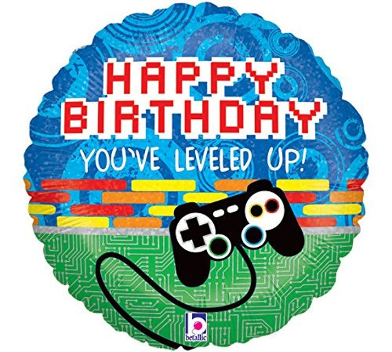 Sale VIDEO GAME Controller Happy Birthday Balloon Gamer