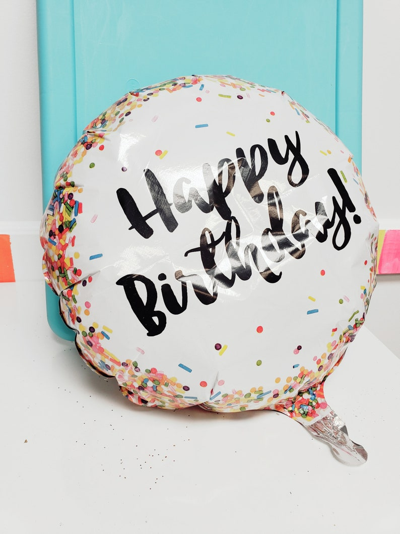 Sale SPRINKLES BIRTHDAY BALLOON Happy Birthday Sprinkle