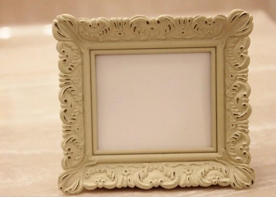 Set Of 5 Mini Vintage Style Frames Ivory White Place Card Etsy