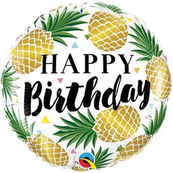 Sale PINEAPPLE BIRTHDAY BALLOON Happy Birthday Party Foil