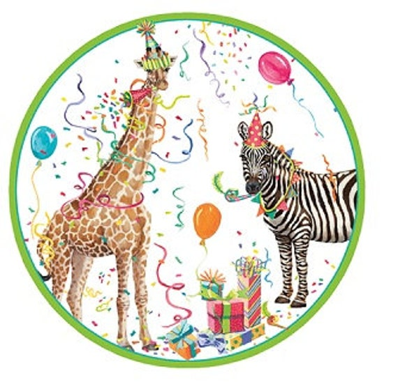 12 Vintage Style PARTY ANIMAL Paper Plates Parisian Vintage Style Trendy Chic Giraffe Zebra Animals Birthday Celebration Safari Zoo Jungle from ...  sc 1 st  Etsy Studio & 12 Vintage Style PARTY ANIMAL Paper Plates Parisian Vintage Style ...