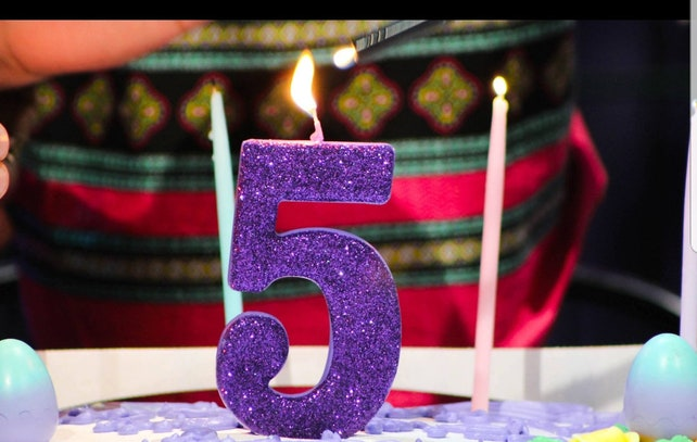 Sale JUMBO 5 GLITTER CANDLE Large Number Birthday Cake Candles Photo Prop Smash 1 1st