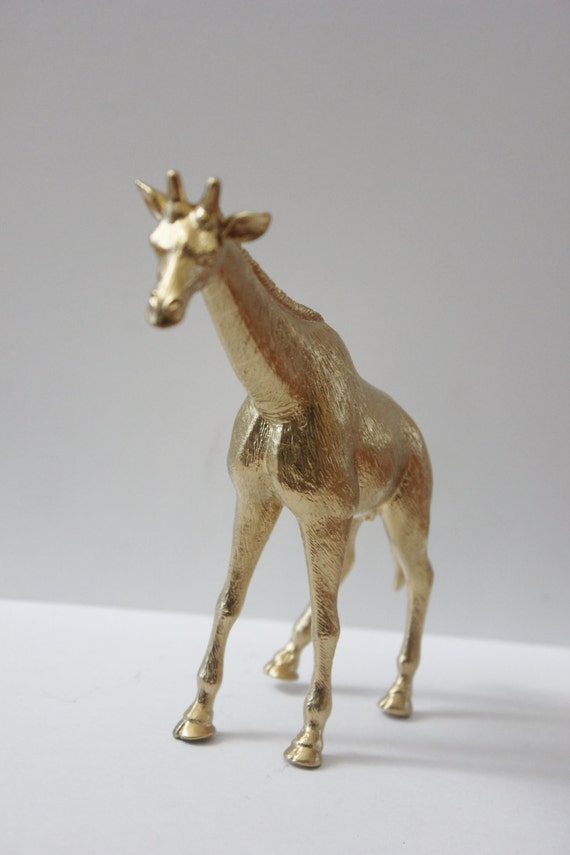 d461690ac1c GOLD GIRAFFE Cake Topper Figurines Animal Figurine Whimsical Vintage Safari  Zoo Theme Birthday Wedding Party Decor