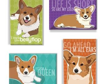 Dog Refrigerator Cute Welsh Corgi Puppy Tool Box Magnet Gift Card Insert