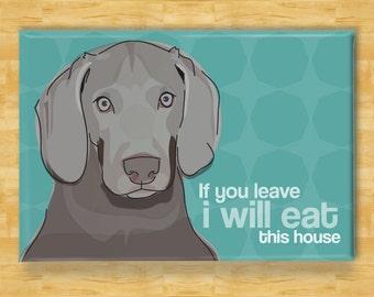 I/'M NOT JUST A DOG PERSON I/'M A WEIMARANER MUMMY Novelty Fridge Magnet Gift