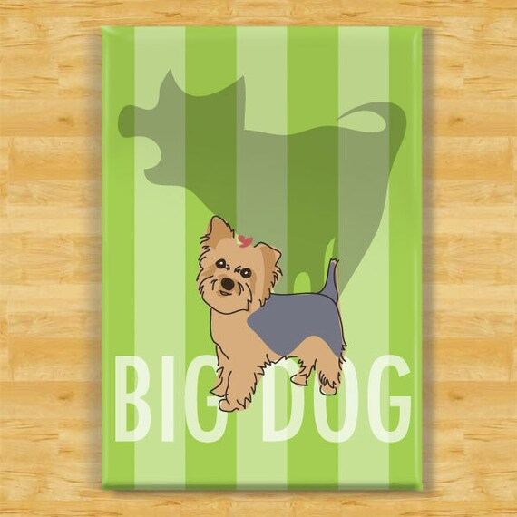 Yorkie Magnet Big Dog Yorkshire Terrier Yorkie Gifts Cute Etsy